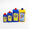 補充液1L:左から、250ml、500ml、1L、1L(バブルスティックス専用)の補充液