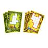 ウボンゴジュニア:ボードは両面印刷。緑色は2枚のタイルを使う問題、黄色は3枚のタイルを使う問題。