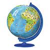 3Dパズル どうぶつ地球儀: