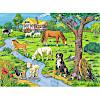 ジグソーパズル100 農場の動物たち(ぬりえ付き):