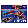 大型船舶組立キット:パッケージ裏(8モデルの写真)