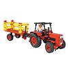 【送料無料アイテム】大型トラクターキット:干し草ワゴンを付けたトラクター