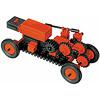 機械と構造学習キット:トランスミッション内蔵の自動車。乾電池とモーターを積んでいる。