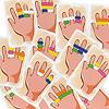 ハリガリ・リング / リングディング:カードには色んな組み合わせが…