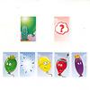 バルーンズ:緑の風船が割れるアクションカードだったので、手元の緑の風船カードを1枚裏返します。