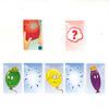 バルーンズ:手元の赤い風船カードを裏返します。