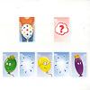 バルーンズ:おかあさんカードをめくったら(全ての色のドットがついた風船をくれる絵)