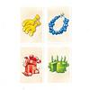 バーディーパーティー:鳥カードの裏に描かれているプレゼントは4種類4色で、いろんな組み合わせがあります。