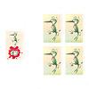 バーディーパーティー:招待状カード(左)にはハチドリが描かれているので、ハチドリカードの中から1枚をめくります。