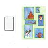 窓ふき職人:カードを1枚伏せて出します。このグレーの窓と同じ大きさの窓を探します。