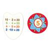 3×4は?パチリ!:ハエタイルの裏面には表の数字を導くかけ算が書いてあります。左は「20」の裏面。