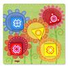 はじめてのゲーム 色と形:「お花の色は何色?」のプレイイメージ
