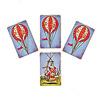 気球で大空へ:乗組員3人のカゴカードには気球カード3枚(3点)