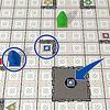 ハイパーロボット:チップをめくって中央に置きます。青色の土星です。青いロボットを土星のマスまで移動させるのに、何手必要でしょうか?