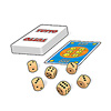 TUTTO(フォレ・ロッテ):手番では山札から1枚めくってサイコロ6個をふります。