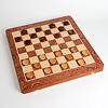 3種のゲームセット木製特:チェッカー