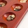 マンカラ 45cm:付属の石はサイズ・色ともかなりバラついています。