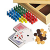 木製ゲームセット20:トランプ、円形コマ、人型コマ