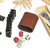 木製ゲームセット20:バックギャモン用ダイス、ダイスカップ