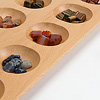 マンカラ 55cm:様々な色の石が使われています。