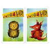きつねのせいくらべ:どのカードにも全7種類の動物が描いてある。