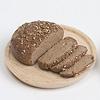 黒パンとハム:黒パン