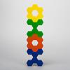 ハニーフラワー:X字の上に六角形の上にX字の上に六角形
