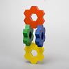 ハニーフラワー:六角形の組み合わせ