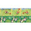 やぎのベッポ:スロープの方向や鉄球のスピードを変えて、ベッポを狙い通りの方向に跳ばすことも可能。