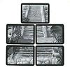 インカの黄金 完全日本語版:5ラウンド分の神殿カード。1から順番にプレイする。