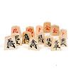 将棋駒 上別製源平: 裏面は分かりやすいように赤い文字になっています。