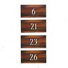 キングドミノ日本語版:タイル置き場に、人数分のタイルを裏の数字の順番に並べます。