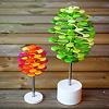 ミニフィボナッチツリー グリーン:通常サイズとの比較