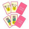 キャット&チョコレート 日常編:最初に2種類のチームカードを伏せて配ります。チームカードは最後まで見ることができません。