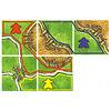 カルカソンヌ(日本語版):得点計算4:草原にいるコマは、その草原が接している完成した都市1つにつき3ポイント。