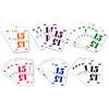 ハゲタカのえじき:数字カードは1から15まで15枚。各プレーヤーは1色15枚を使います。