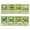 わしょくレシピ:メニューカードは8種類。それぞれに6つの具材が描かれています。