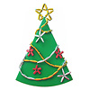 リサイクルペーパービーズ:金・銀の紙を使って飾ってみたクリスマスツリー