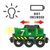 33214 バッテリーパワー貨物輸送エンジン:上のスイッチで、前進/停止/後退を切り替えます。ヘッドライトが点灯します。