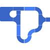 AQ530カナルロック・ハーバーマリーナセット:ストレートセクションとカーブセクションを追加した組み方です。