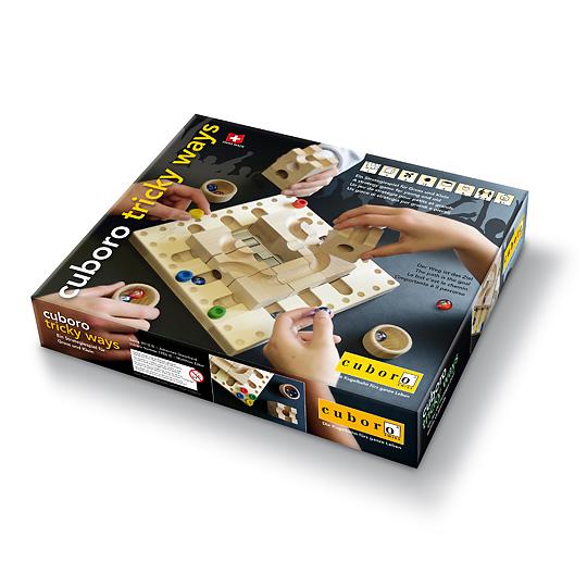 【送料無料】 クボロ 戦略ボードゲーム ボードゲーム キュボロ社 木のおもちゃ・玉の道 キュボロ・トリッキーウェイ