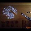 スターライト:暗い部屋の壁に投影してみました。