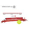 STOCS ストックス:82cmの棒の両端に23cmずつ縄が延びています。