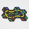 タントリックス ゲームパック:ストラテジーでは輪を作ると得点が2倍(黄色は8枚なので16点)