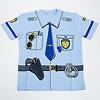 警察官2点セット 青帽子:Tシャツ前側