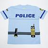 警察官2点セット 青帽子:Tシャツ後側
