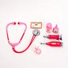 ピーターキンベビー・お医者さんごっこ:お医者さんごっこ用の道具(名札、目薬、タブレット入れ、聴診器、注射器、体温計)