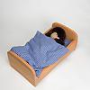 NV ベッド布団付き ブナ材(50cm):寝ているのはジルケ人形L(別売)