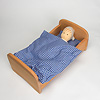 NV ベッド布団付き ブナ材(50cm):寝ているのはNAナチュラルベビー(別売)