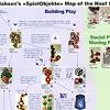 「ピエール・クラーセンの日」パンフレット:A2サイズ全面を使った入魂のPeer Clahsen's <SpielObjekte> Map of the Naef Products(部分)